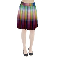 Colorful Abstract Background Pleated Skirt by Simbadda