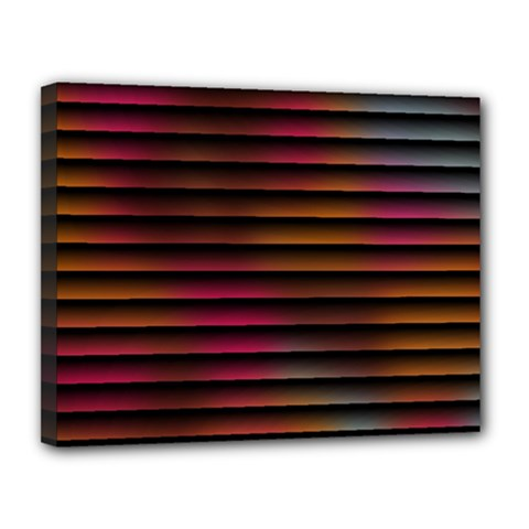 Colorful Venetian Blinds Effect Canvas 14  X 11  by Simbadda