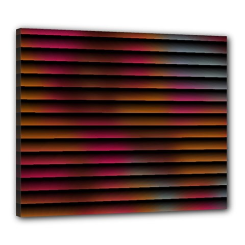 Colorful Venetian Blinds Effect Canvas 24  X 20  by Simbadda