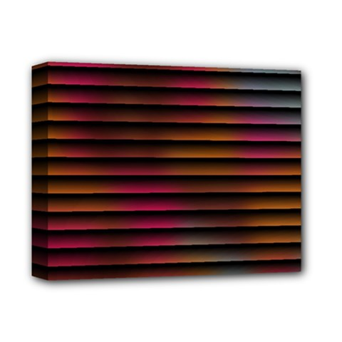Colorful Venetian Blinds Effect Deluxe Canvas 14  X 11  by Simbadda