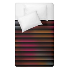 Colorful Venetian Blinds Effect Duvet Cover Double Side (single Size) by Simbadda