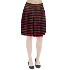 Colorful Venetian Blinds Effect Pleated Skirt
