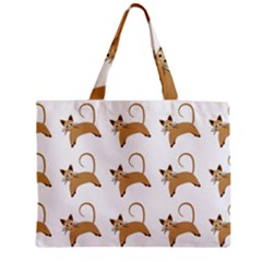 Cute Cats Seamless Wallpaper Background Pattern Zipper Mini Tote Bag by Simbadda