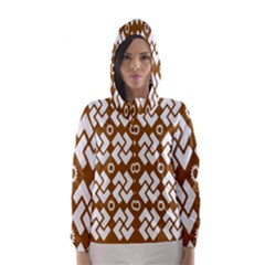 Art Abstract Background Pattern Hooded Wind Breaker (women) by Simbadda