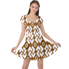 Art Abstract Background Pattern Cap Sleeve Dresses by Simbadda
