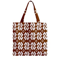 Art Abstract Background Pattern Zipper Grocery Tote Bag by Simbadda