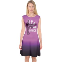 Dancing Is The Key To Life Capsleeve Midi Dress by LetsDanceHaveFun