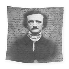 Edgar Allan Poe  Square Tapestry (large) by Valentinaart