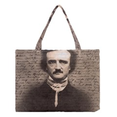 Edgar Allan Poe  Medium Tote Bag by Valentinaart