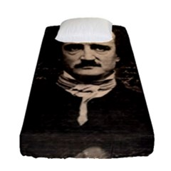 Edgar Allan Poe  Fitted Sheet (single Size) by Valentinaart