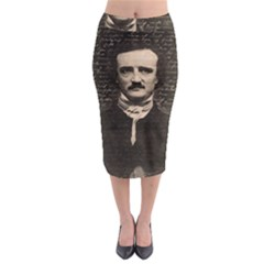 Edgar Allan Poe  Midi Pencil Skirt by Valentinaart