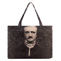 Edgar Allan Poe  Medium Zipper Tote Bag by Valentinaart