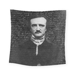 Edgar Allan Poe  Square Tapestry (small) by Valentinaart