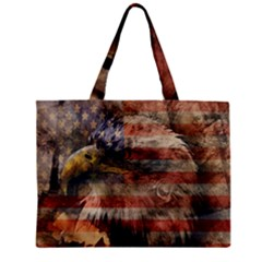 Vintage Eagle  Zipper Mini Tote Bag by Valentinaart
