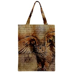 Vintage Owl Classic Tote Bag by Valentinaart