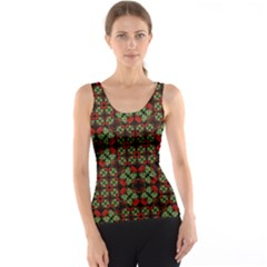 Asian Ornate Patchwork Pattern Tank Top by dflcprintsclothing
