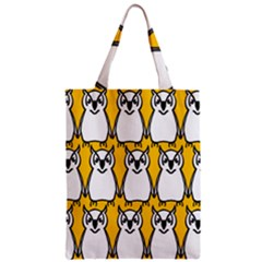 Yellow Owl Background Zipper Classic Tote Bag by Simbadda