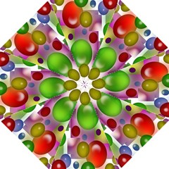 Colorful Bubbles Squares Background Folding Umbrellas by Simbadda