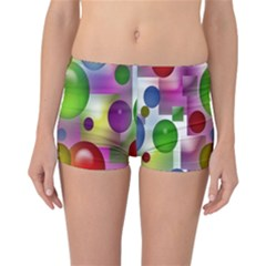 Colorful Bubbles Squares Background Reversible Bikini Bottoms by Simbadda