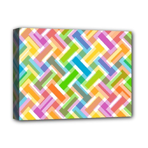 Abstract Pattern Colorful Wallpaper Deluxe Canvas 16  X 12   by Simbadda