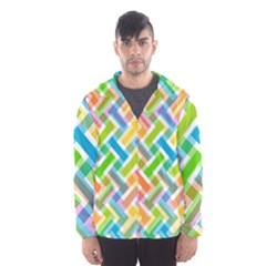 Abstract Pattern Colorful Wallpaper Hooded Wind Breaker (men) by Simbadda