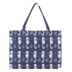 Seahorse And Shell Pattern Medium Tote Bag by Simbadda