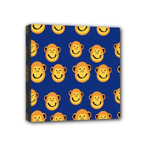 Monkeys Seamless Pattern Mini Canvas 4  X 4  by Simbadda