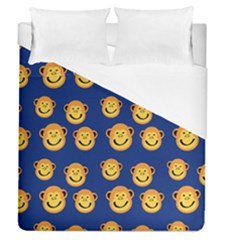 Monkeys Seamless Pattern Duvet Cover (queen Size) by Simbadda