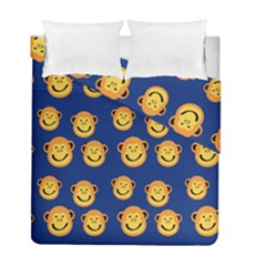 Monkeys Seamless Pattern Duvet Cover Double Side (full/ Double Size) by Simbadda