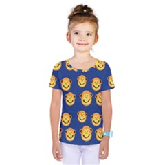 Monkeys Seamless Pattern Kids  One Piece Tee by Simbadda