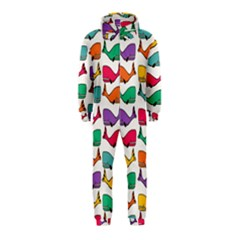 Small Rainbow Whales Hooded Jumpsuit (kids)