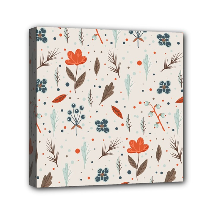 Seamless Floral Patterns  Mini Canvas 6  x 6