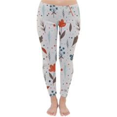 Seamless Floral Patterns  Classic Winter Leggings by TastefulDesigns