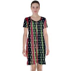 Alien Animal Skin Pattern Short Sleeve Nightdress