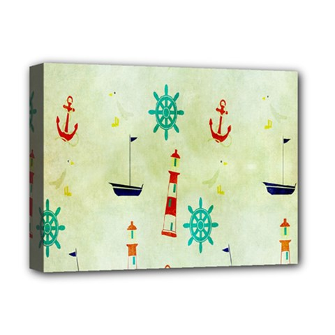 Vintage Seamless Nautical Wallpaper Pattern Deluxe Canvas 16  X 12