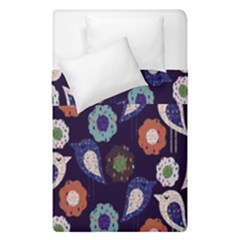 Cute Birds Pattern Duvet Cover Double Side (single Size) by Simbadda