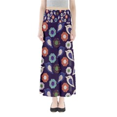 Cute Birds Pattern Maxi Skirts