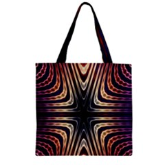 Colorful Seamless Vibrant Pattern Zipper Grocery Tote Bag by Simbadda