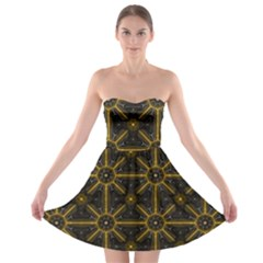 Seamless Symmetry Pattern Strapless Bra Top Dress