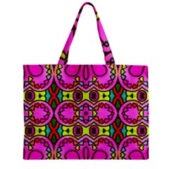 Love Hearths Colourful Abstract Background Design Zipper Mini Tote Bag by Simbadda