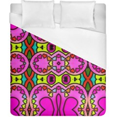 Love Hearths Colourful Abstract Background Design Duvet Cover (california King Size) by Simbadda