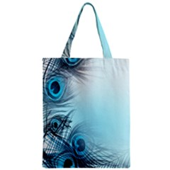 Feathery Background Zipper Classic Tote Bag by Simbadda