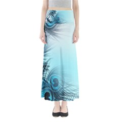 Feathery Background Maxi Skirts