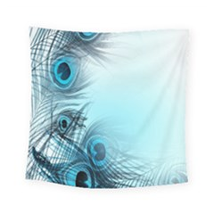 Feathery Background Square Tapestry (small)