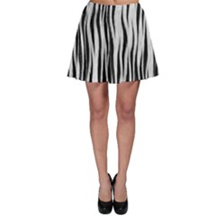 Black White Seamless Fur Pattern Skater Skirt