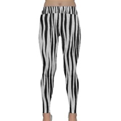 Black White Seamless Fur Pattern Classic Yoga Leggings