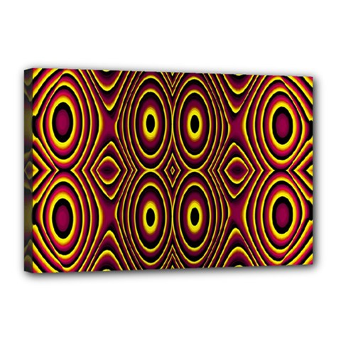 Vibrant Pattern Canvas 18  X 12