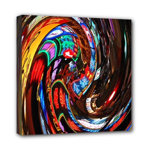 Abstract Chinese Inspired Background Mini Canvas 8  X 8  by Simbadda