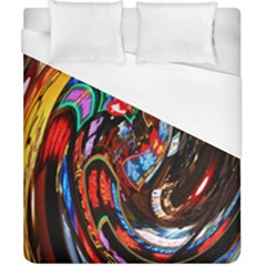 Abstract Chinese Inspired Background Duvet Cover (california King Size) by Simbadda