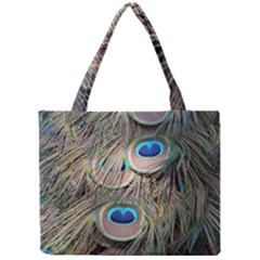 Colorful Peacock Feathers Background Mini Tote Bag